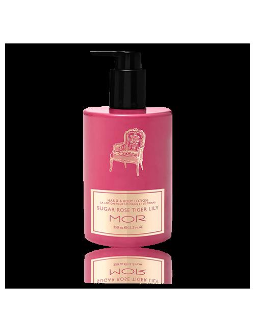 Closeup  ecbl05 essentials sugar rose tiger lily hand   body lotion high res tiff