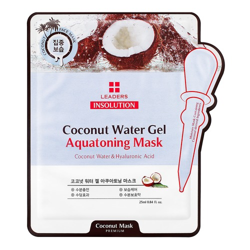 Closeup   insolution coconut water gel aquatoning care mask pouch front web
