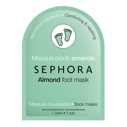 Closeup   foot mask almond web